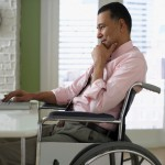 Discapacitado trabajando
