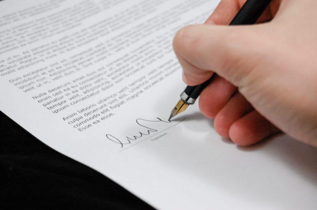 tipos de contrato firma